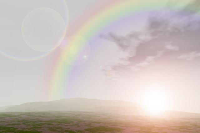 二つの虹(ダブルレインボー)は自分が新しいステージへ行くことになるというメッセージだそうです!