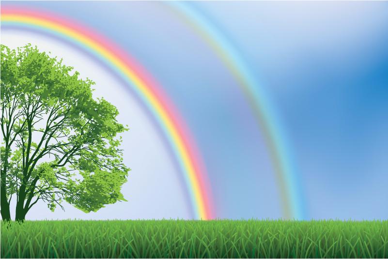 二つの虹(ダブルレインボー)は自分が新しいステージへ行くことになるというメッセージだそうです!「本当の自分」を自分の勇気と力で取り戻そうと生きている人に虹が現れる…。